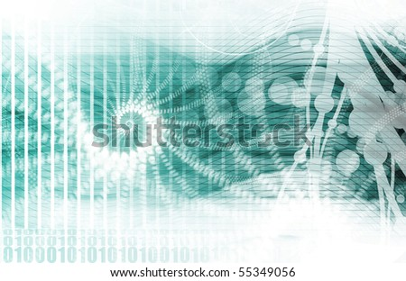 Medical Research and Corporate Technology As Art - stock photo