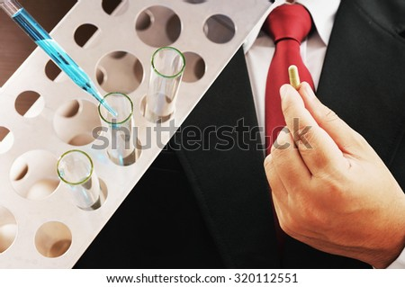 medical research background - stock photo
