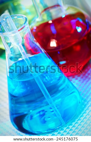 Medical research. Scientific laboratory tube with liquid - stock photo