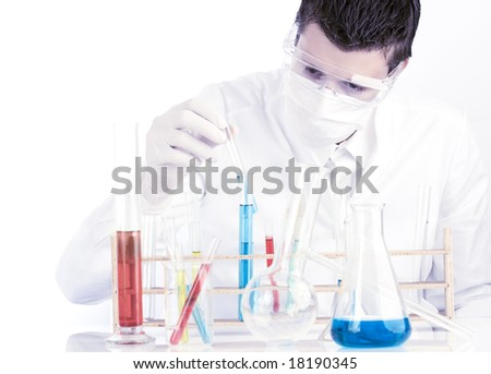 medical researcher in the laboratory
