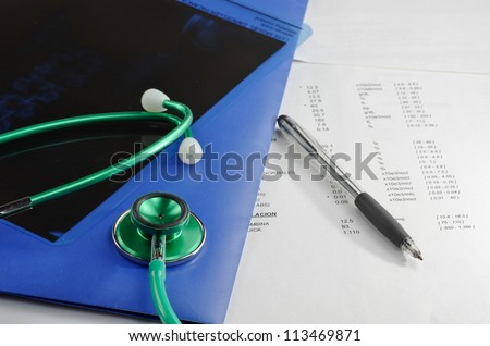 Medical results of an analysis - stock photo