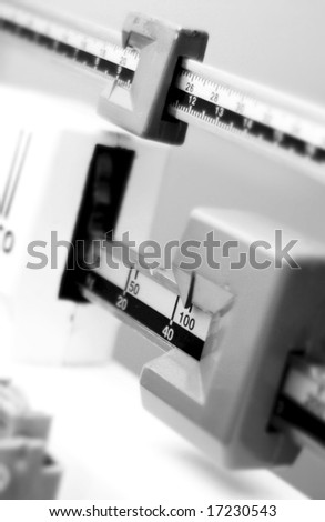 Medical Scale - stock photo