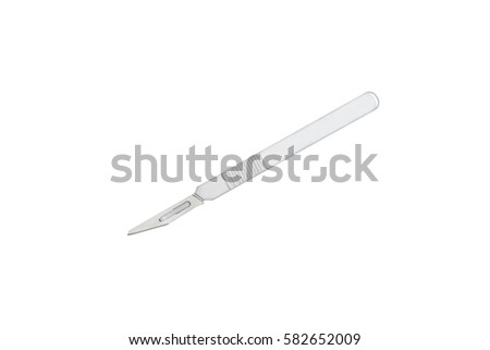 Medical scalpel isolated on white background