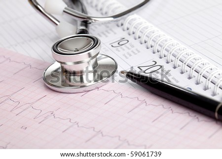 Medical Schedule - stock photo