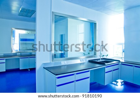 medical science modern lab interior architecture - stock photo