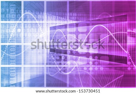 Medical Science with Modern Technology as Art - stock photo