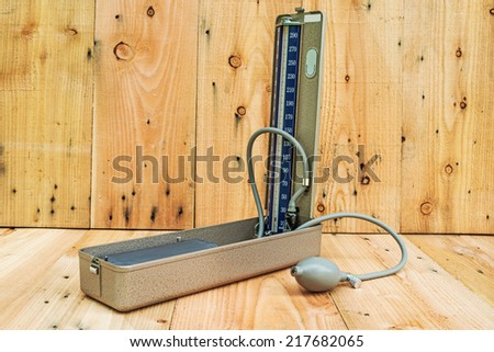 Medical sphygmomanometer for blood pressure control  - stock photo