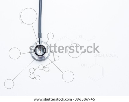 Medical stethoscope on white background,Close up view of grey stethoscope, stethoscope of medical for research,stethoscope of medical for health,stethoscope of medical for doctor,medical Health Check. - stock photo