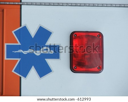 medical symbol and tail light - stock photo
