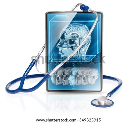 Medical tablet with MRI scan