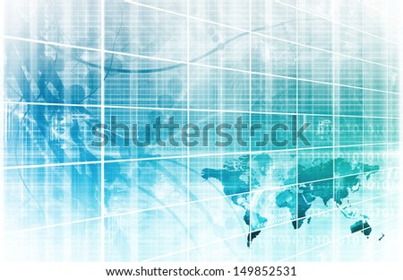 Medical Technology and Corporate Research As Art - stock photo