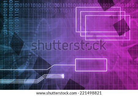 Medical Technology Interface and Software for Health Art - stock photo