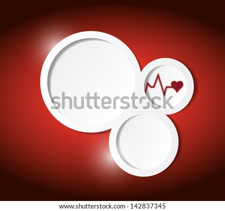 medical text communication bubbles template illustration design graphic - stock photo