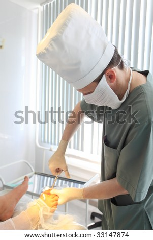 Medical theme: surgeon in operative room.