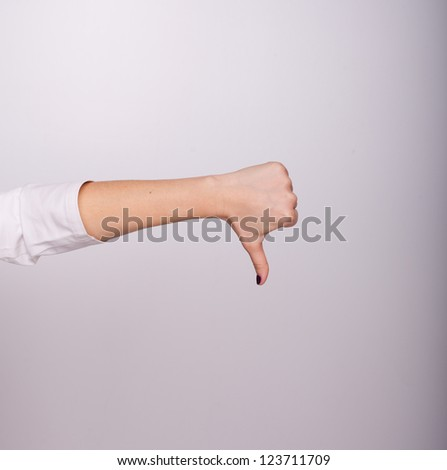 Medical thumbs down - stock photo