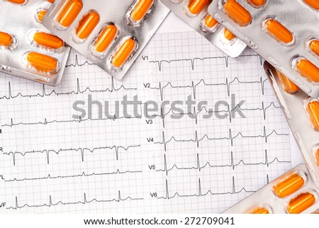 Medical treatment for a heart disease  - stock photo