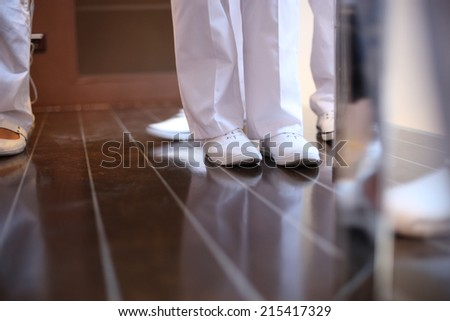 Medical uniform; low section - stock photo