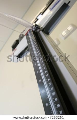 Medical weighing - stock photo
