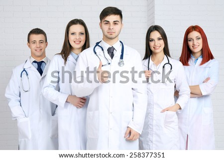Medical workers in hospital