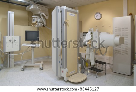 Medical x-ray equipmentfor clinical diagnosis - stock photo