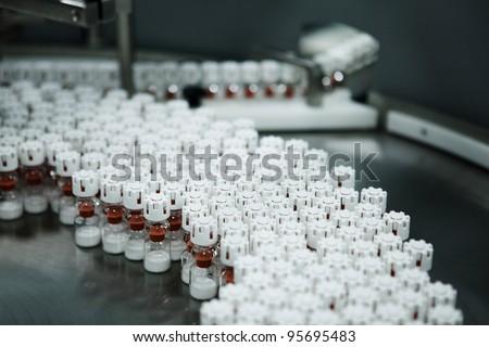 medicament being made at a pharmaceutical company - stock photo