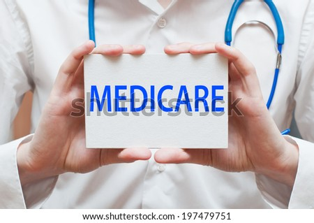 Medicare - Medical Doctor Shows Information - stock photo