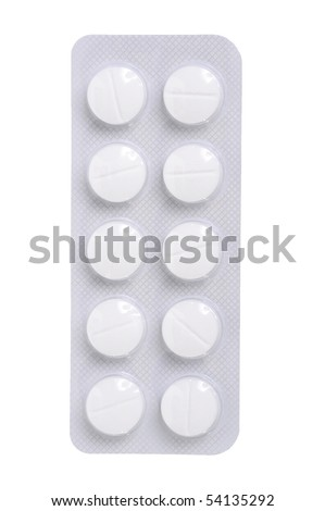 Medication pills tablets in blister pack - stock photo