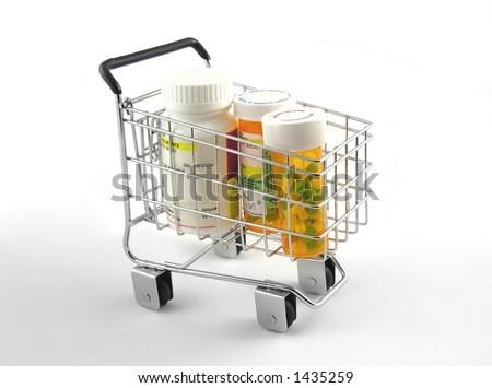 Medication Shopping - stock photo