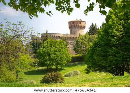 Medicean Fortress in Volterra, Tuscany, Italy