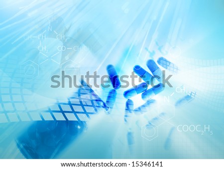 Medicine background - stock photo