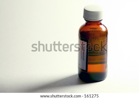 Medicine bottle - stock photo