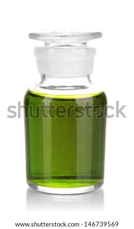 Medicine bottle isolated on white