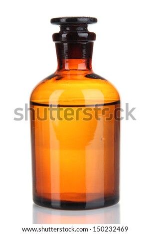 Medicine bottle isolated on white - stock photo