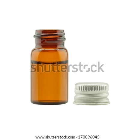 Medicine bottle isolated on white background - stock photo