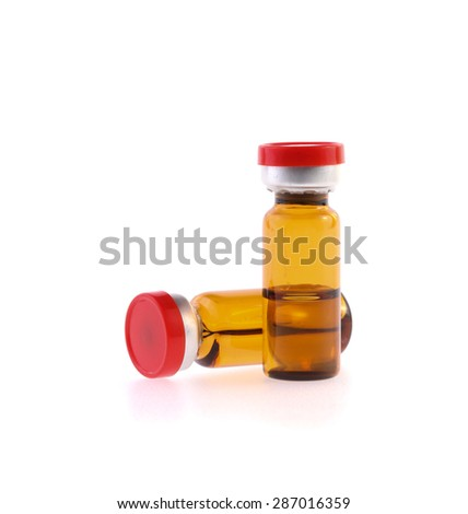Medicine bottle isolated on white background