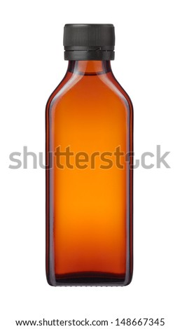 medicine bottle or cosmetic product on white background - stock photo