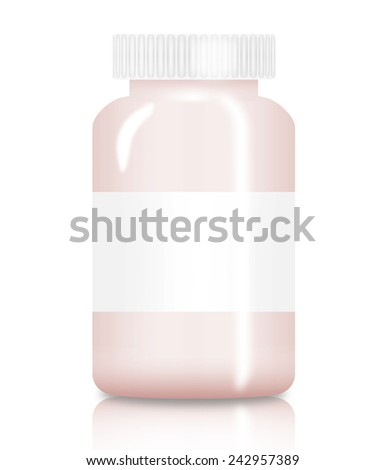 Medicine bottle (vial) isolated on white background