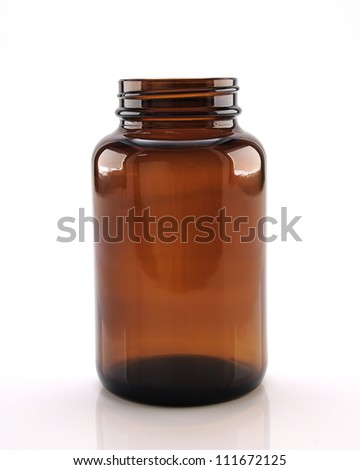 Medicine bottles. - stock photo