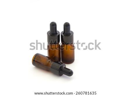 Medicine bottles isolated on white background - stock photo