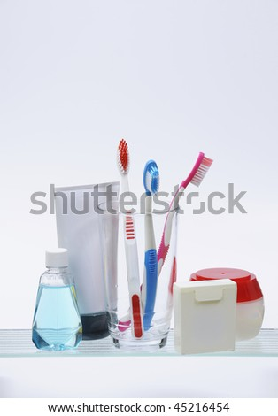 medicine cabinet isolated on white - stock photo
