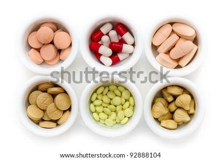 Medicine concept. Tablets, pills, capsule - stock photo
