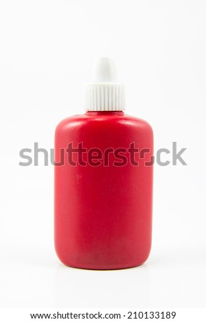 Medicine dropper bottle isolated on white background