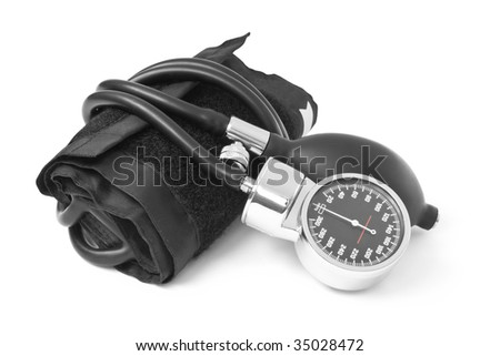 medicine object. blood pressure isolated on white background - stock photo