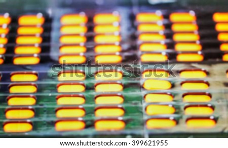 medicine, pharmacy, public health and the concept of pharmacy and the manufacture, production - blur background - stock photo