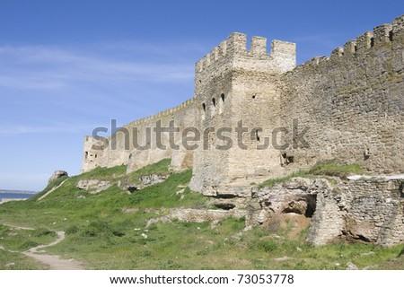Medieval Akkerman fortress near Odessa in Ukraine - stock photo
