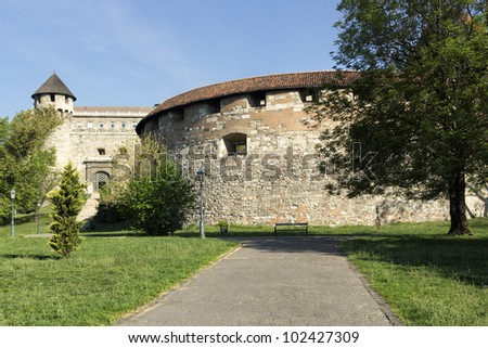medieval bastion in Royal Palace of Buda, Budapest, Hungary