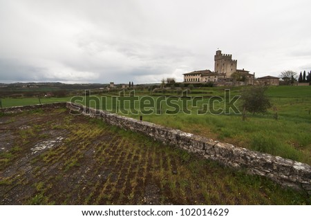 medieval castle around Siena in Tuscany, Italy