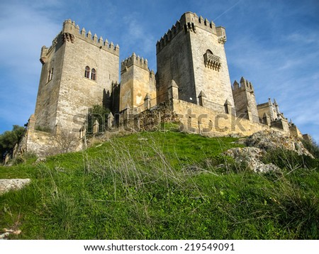 Medieval castle at Almodovar del Rio, Cordoba, Andalusia, Spain