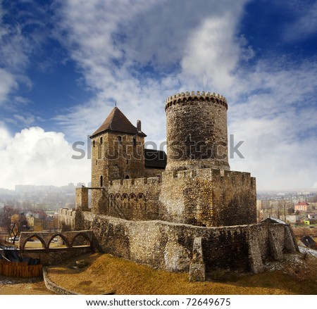 Medieval castle in Bedzin, Poland - stock photo