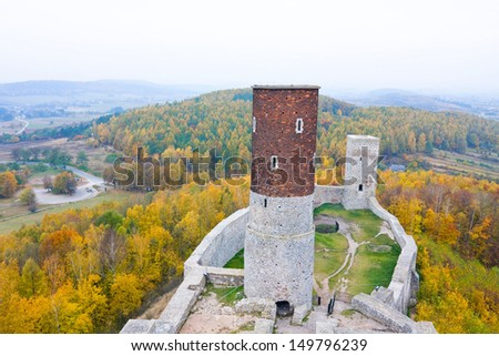 Medieval castle in Checiny, Poland.  - stock photo